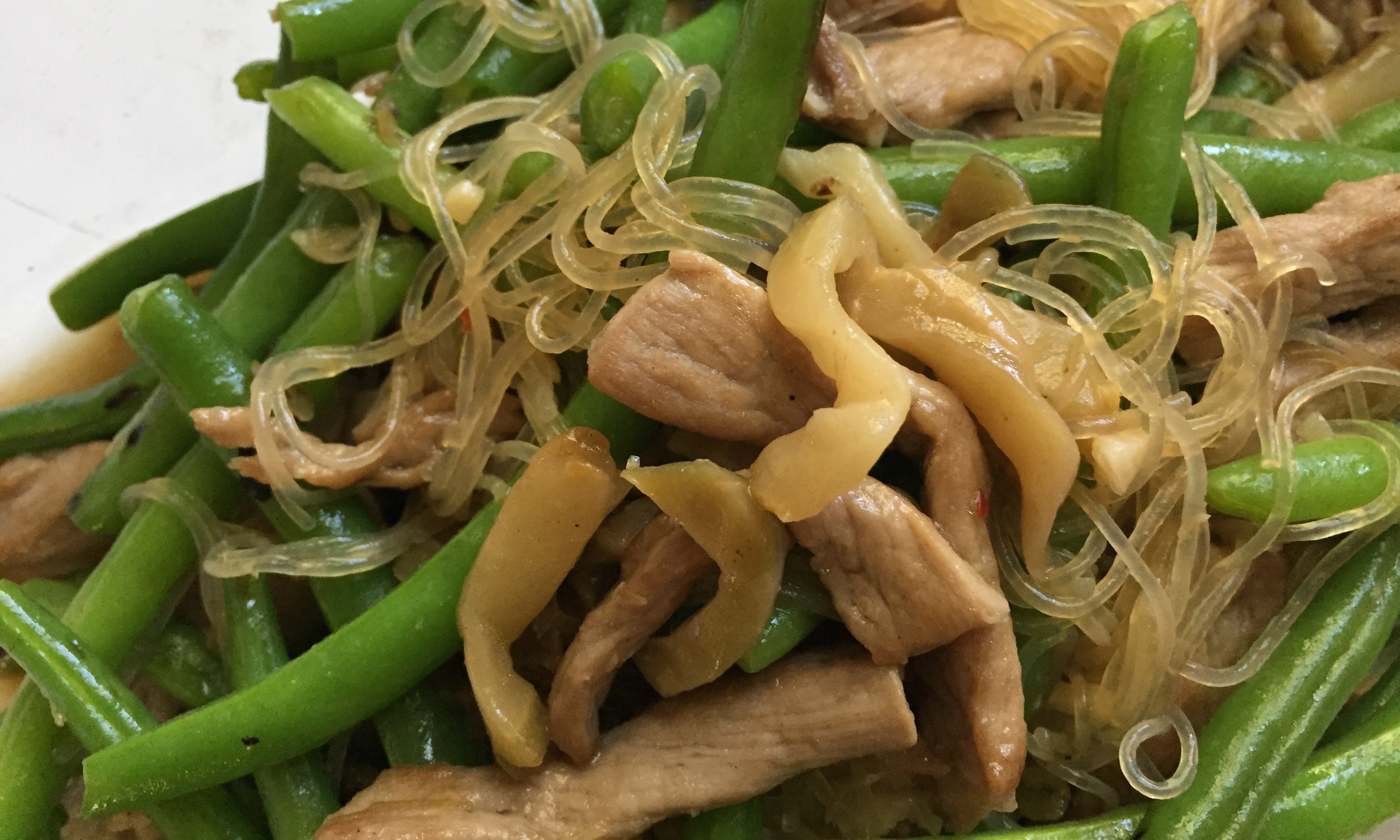 String Bean With Pork Pickled Vegetable And Bean Thread Noodle